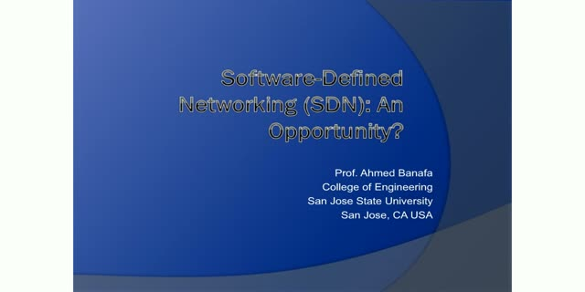 Software-Defined Networking (SDN): An Opportunity?