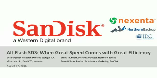 All-Flash SDS: When Great Speed comes with Great Efficiency