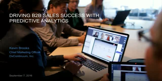 Driving B2B Sales Success with Predictive Analytics