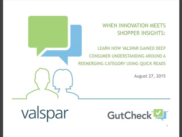How Valspar Gained Deep Consumer Understanding Around a Reemerging Category