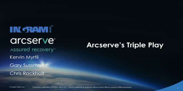 Arcserve's Triple Play