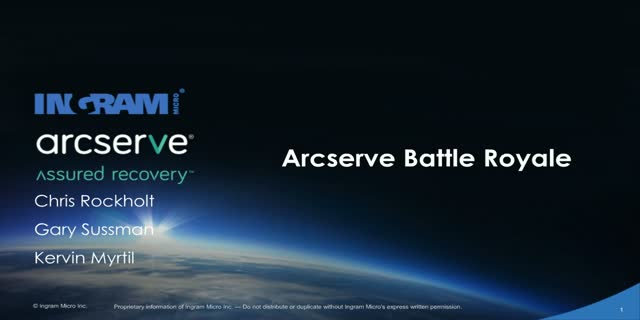Arcserve's Battle Royale