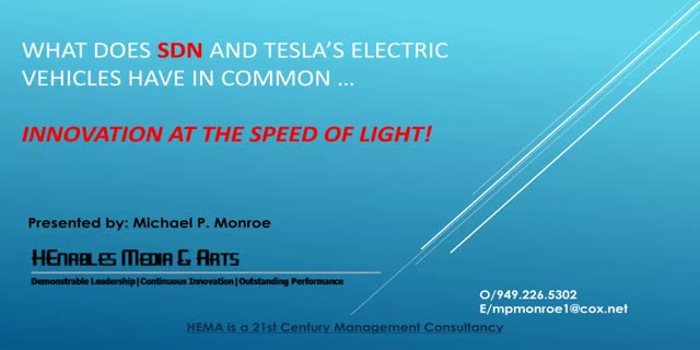 Innovation at the Speed of Light: What SDN & Tesla Have in Common