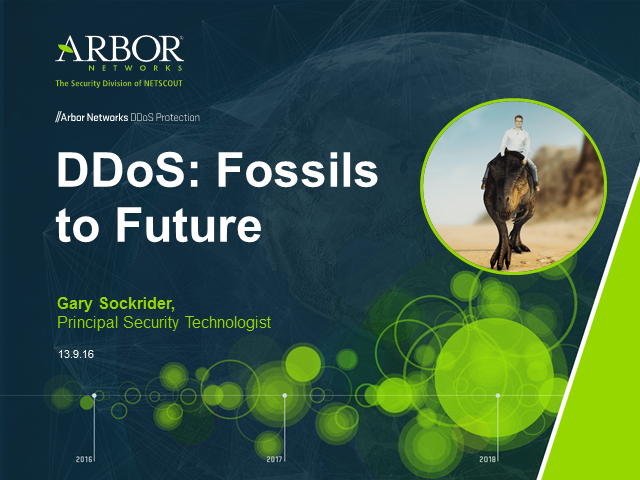 DDoS Fossils to Future: A Brief History and What to Expect
