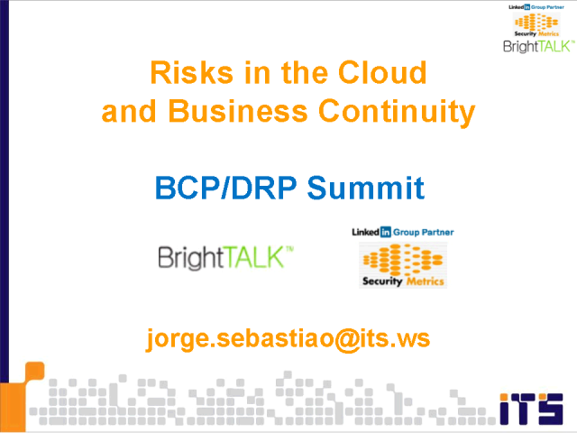 Cloud Risks in Business Continuity