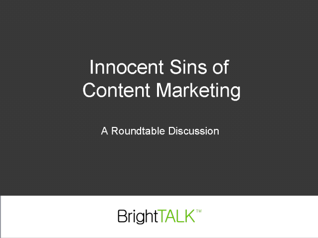 Innocent Sins of Content Marketing