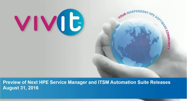 Preview of Next HPE Service Manager and ITSM Automation Suite Releases