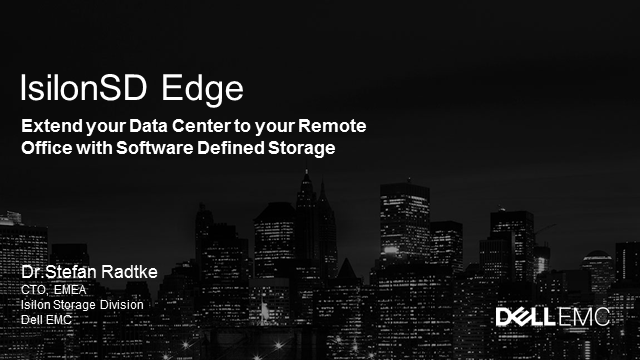 Extend your Data Center to your Remote Office with Software Defined Storage