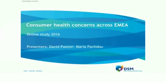 Consumer health concerns across the EMEA