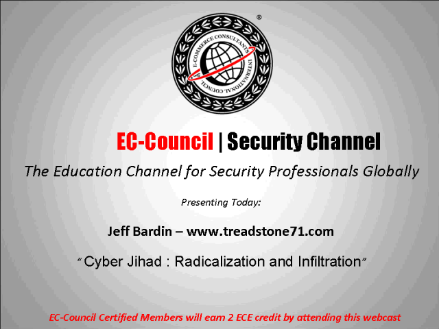 Cyber Jihad - Infiltration and Radicalization
