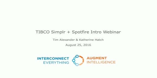 Autopilot for Data Viz Tasks: TIBCO Simplr & Spotfire Cloud