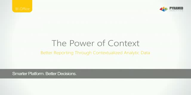 The Power of Context: Better Reporting Through Contextualized Analytic Data