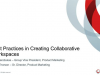 Best Practices in Creating Collaborative Workspaces