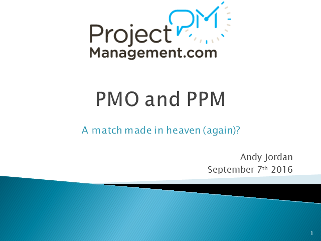PMO and PPM – A match made in heaven (again)?