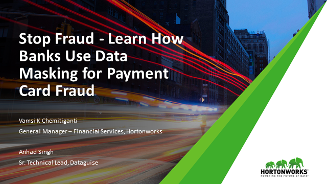 Learn How Banks Use Data Masking for Payment Card Fraud