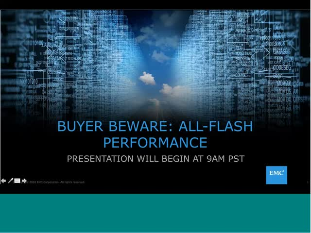 Tech Talk: Buyer Beware - All Flash Performance