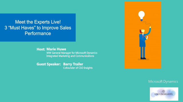 "3 ""Must-Haves"" to Maximize Sales Performance [Meet the Expert Series]"