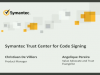 Symantec Trust Center for Code Signing