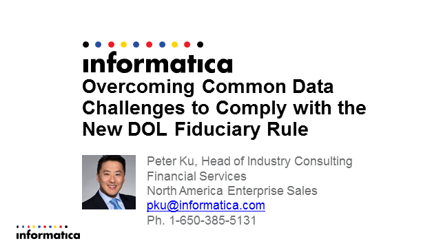 Overcoming Common Data Challenges to Comply with the New DOL Fiduciary Rule