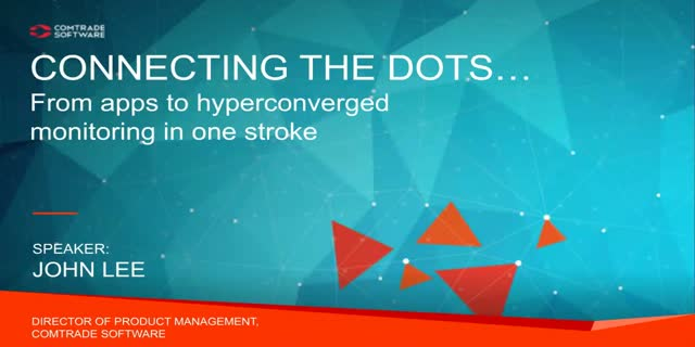 Connecting the dots… from apps to hyperconverged monitoring in one stroke