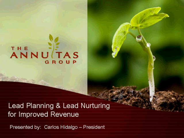 Lead Planning & Lead Nurturing for Improved Revenue