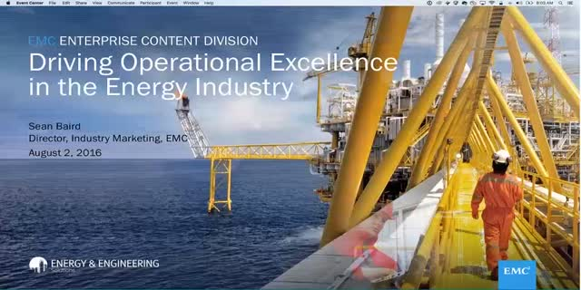 Operational Excellence In The Energy IndustryWebcast | EMC