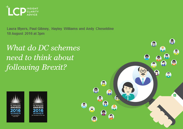 What do DC schemes need to think about following Brexit?