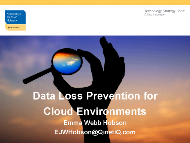 Preventing Data Loss within Cloud Environments