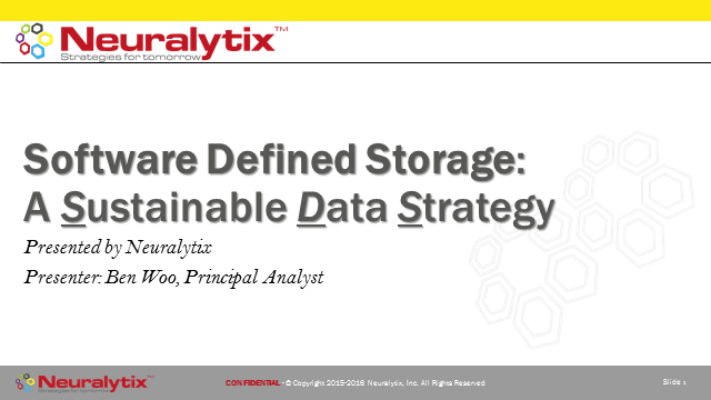 Software-Defined Storage: A Sustainable Data Strategy
