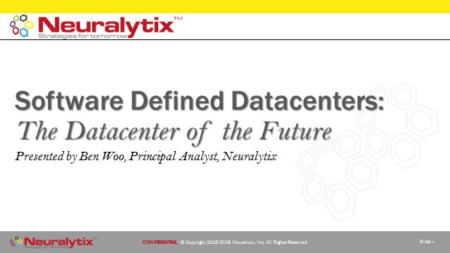 SDDC: The datacenter of the future