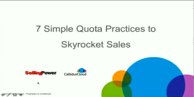 How to Use 7 Simple Quota Practices to Skyrocket Sales