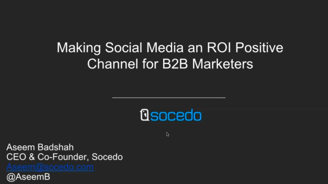 Turning Social Media Into an ROI Positive Channel