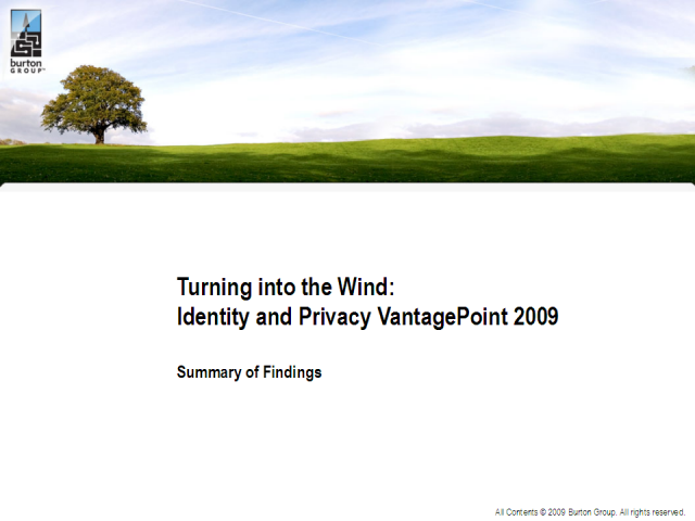 Identity and Privacy Strategy VantagePoint Findings