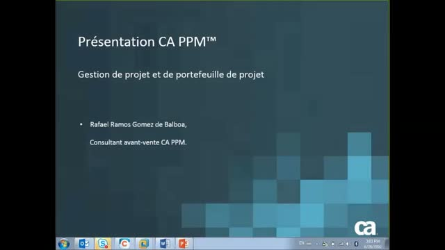 CA PPM Overview Presentation (French version)