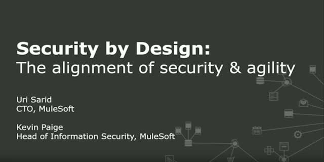 Security by Design: The Alignment of Security and Agility