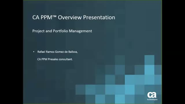 CA PPM Overview Presentation (Spanish version)
