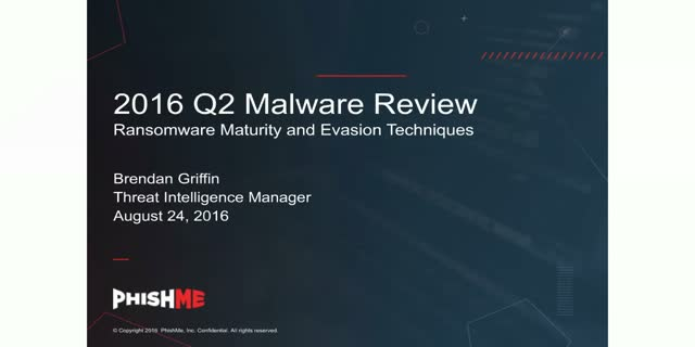 2016 Q2 Malware Review: Ransomware Maturity and Evasion Techniques