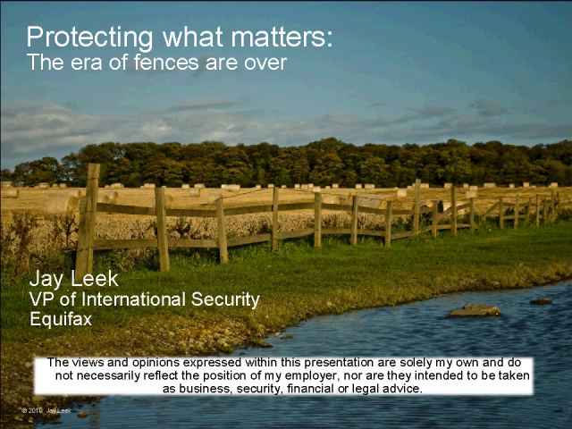 Protecting What Matters: The Era of Fences is Over