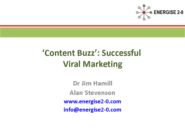 'Content Buzz' -  Successful Viral Marketing