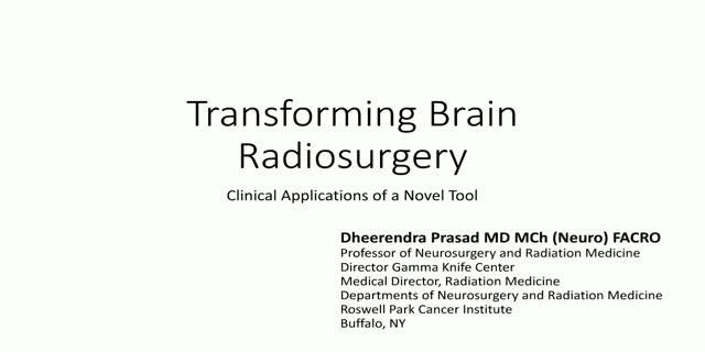 Transforming brain radiosurgery: clinical application of a novel tool