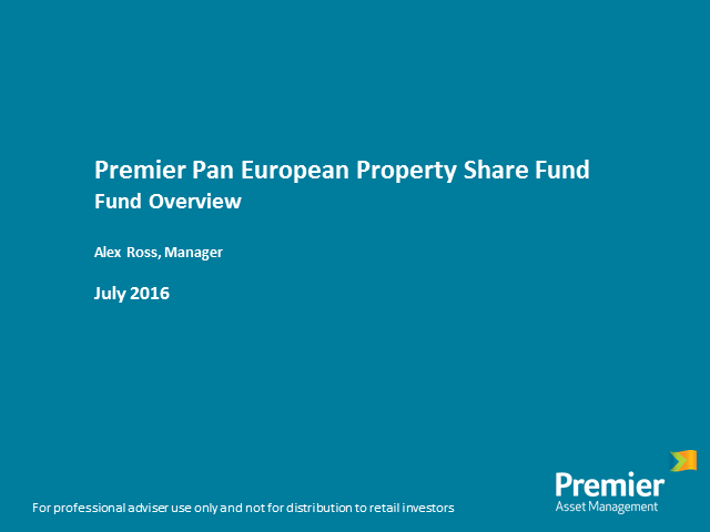 Premier Pan European Property Share Fund - fund overview with Alex Ross
