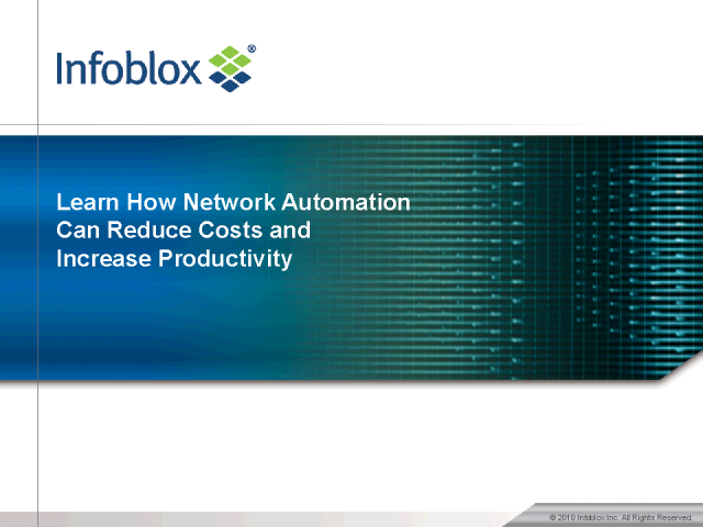 How Network Automation Can Reduce Costs & Increase Productivity
