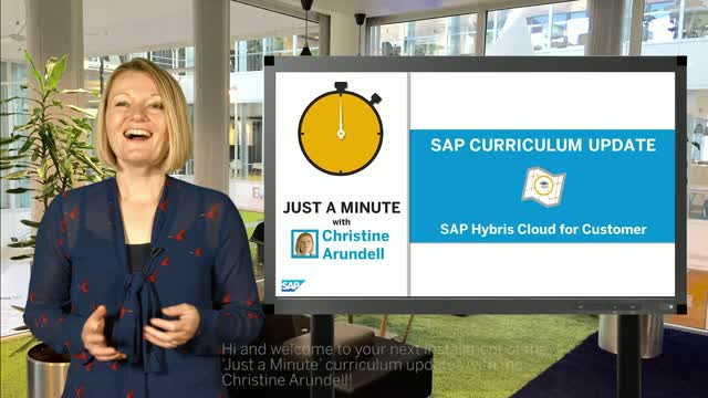 Just A Minute - with Christine Arundell on SAP hybris Cloud For Customer