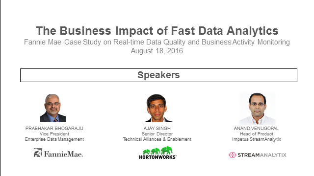 The Business Impact of Fast Data Analytics