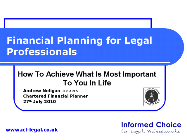Financial Planning for Legal Professionals
