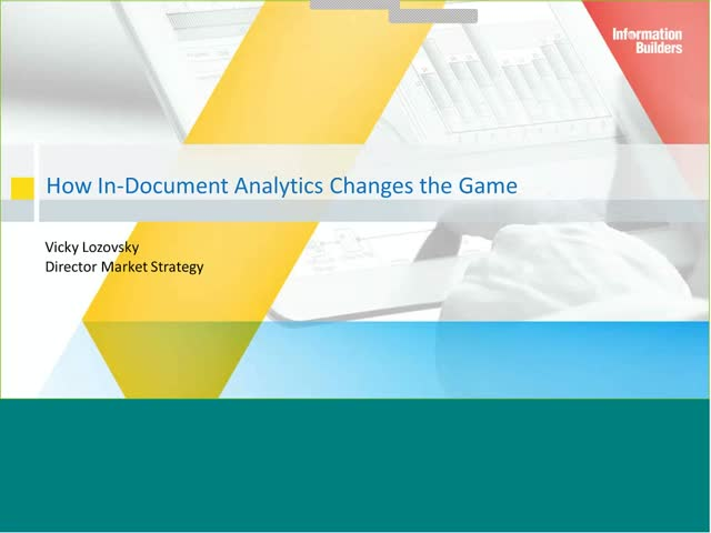 Change the Game With In-Document Analytics