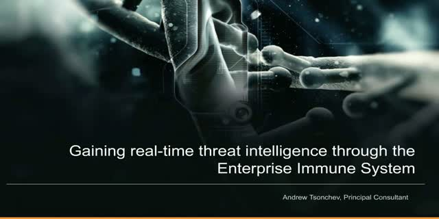 Gaining real-time threat intelligence through the Enterprise Immune System