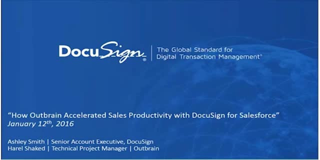 Accelerate Sales Productivity & Close More Deals with Salesforce + DocuSign