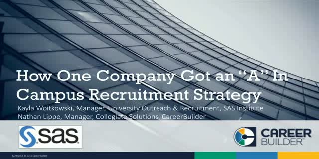 "How One Company Got an ""A"" in Campus Recruitment Strategy"