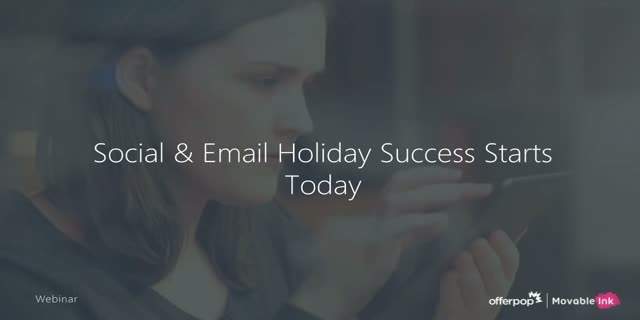 Social & Email Holiday Success Starts Today